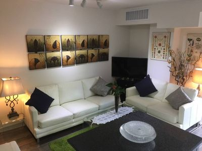 Photo for Great downtown luxury condo with 2 parking spots
