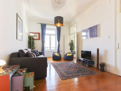 Photo for Vintage apartment for 6 persons in the city center near Avenida Liberdade