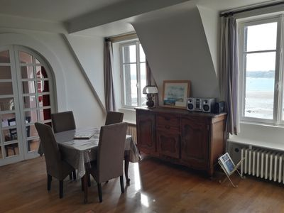 Photo for Welcome to this bright T3 - sea view - historic center - St Malo