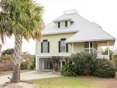 Photo for Lovely, marshview home with Wifi and golf cart, just a block to the beach