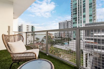 Enjoy views of Biscayne Bay from your balcony
