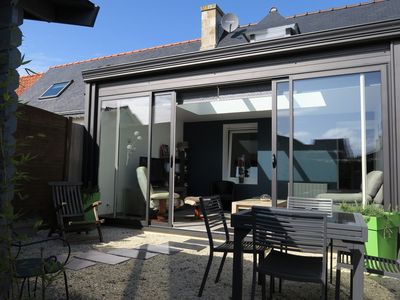 Photo for Nice renovated south facing house with closed courtyard in TREGASTEL