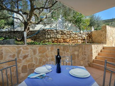 Photo for Studio flat near beach Cove Pokrivenik (Hvar) (AS-5231-f)