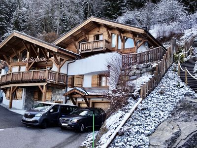 Photo for Luxury ski chalet with beautiful views. Available fully catered or self catered