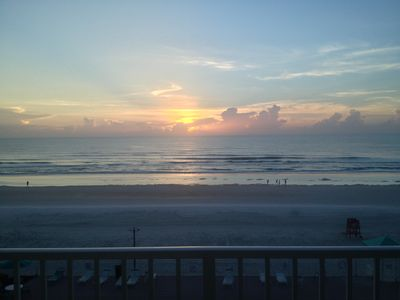 Photo for Direct oceanfront with balcony overlooking the sunrise, pool and beach!