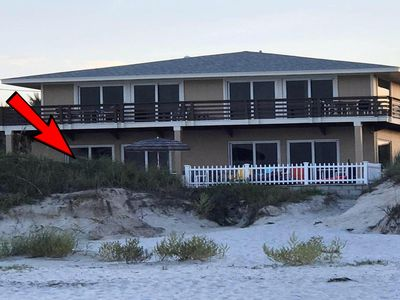 Photo for Pet Friendly Direct Oceanfront Angel Inn the Sand - Gecko Unit Downstairs South