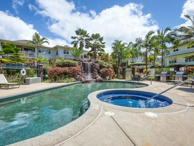 Photo for 3 BR Princeville Condo, AC, Pool, Gym, Garage, Amazing Location! (1622)