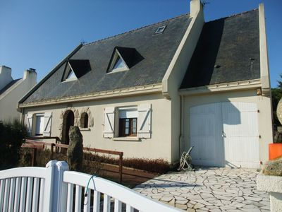 Photo for Large house direct access to the beach (50 m) with mature garden