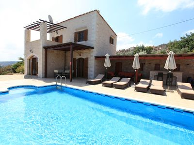 Photo for Exclusive natural stone villa in a secluded location on 4500 m² with heated pool