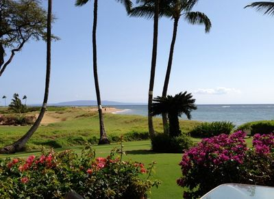 This is an actual view from our lanai. See our patio table on the lower right?