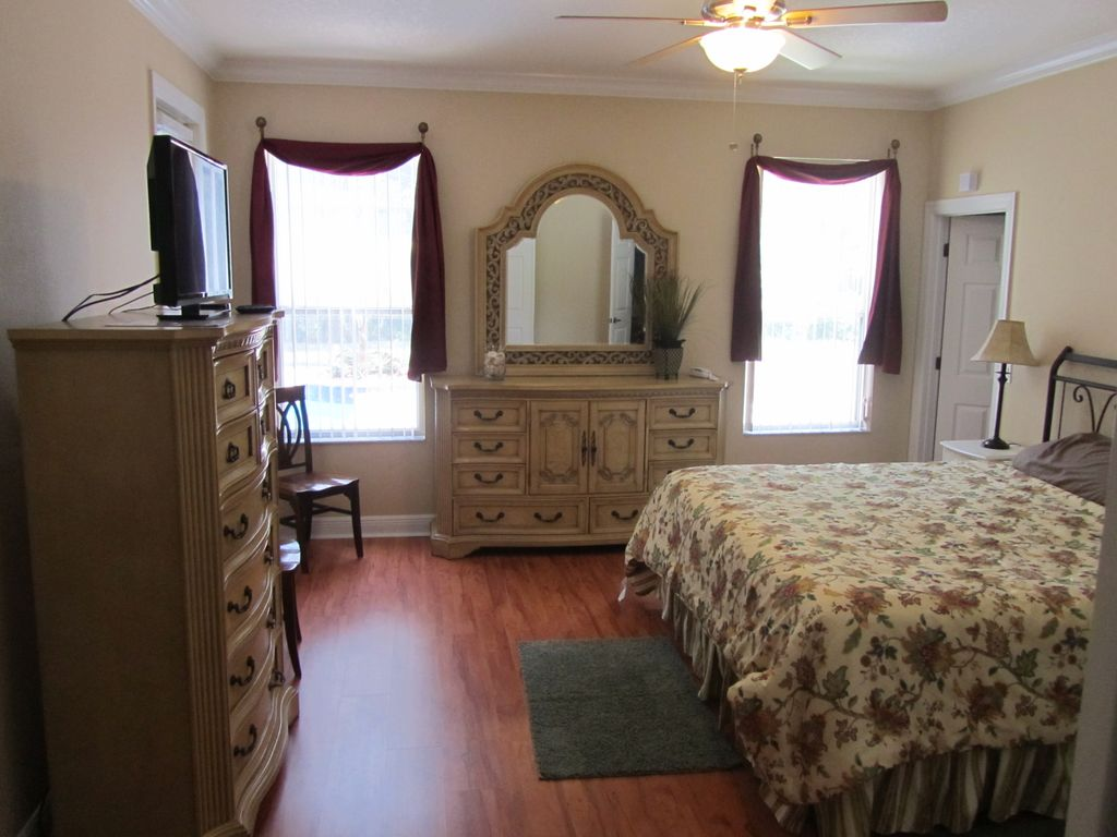 First Floor Master With New High End Furniture, TV, King Bed And Privacy  Shades