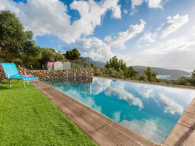 Photo for Magnificent olive grove with pool: stunning views of the sea and privacy