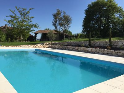 Photo for Beautiful large hayloft gite for 2-4, lovely pool, stunning views, Midi-Pyrenees