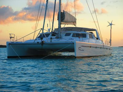 Photo for 50ft Voyage Luxury Catamaran, equiped with queen state room, on suit bathrooms.