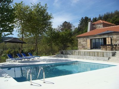 Photo for Farmhouse with pool, vineyard 5 acres, 40 km from Porto, Douro river 24Km