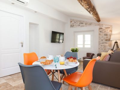 Photo for Au Marché - Newly Beautiful Apt 1 BDR, WIFI, AC, renovated 2018, old Antibes