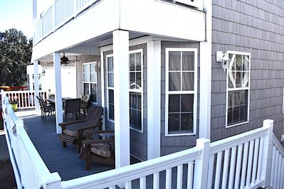 Spacious first level front deck
