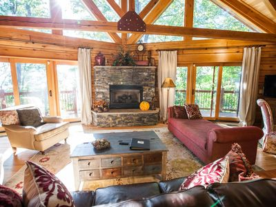 Photo for 4 BR Mountain cabin with beautiful long range views in quiet gated community