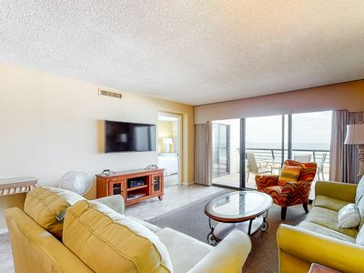Photo for 5th Floor Spacious Condo w/ Gulf View! Wet Bar, Shared Pool, Sauna!