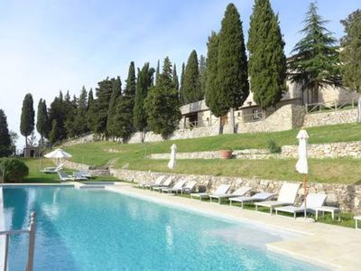 Photo for 2 bedroom apartment with pool near Siena