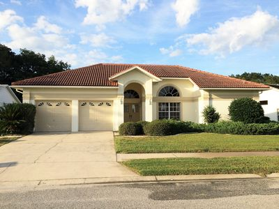 Photo for Peaceful Villa With Private Heated Pool Near Fairway Oaks Golf Course