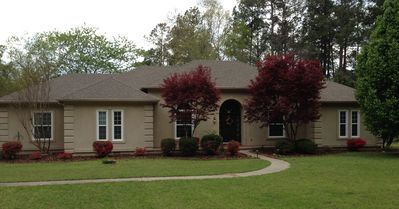 Photo for MASTERS REDUCED! Lake view! 7 person spa, fire pit, kayaks, paddleboards, & fish