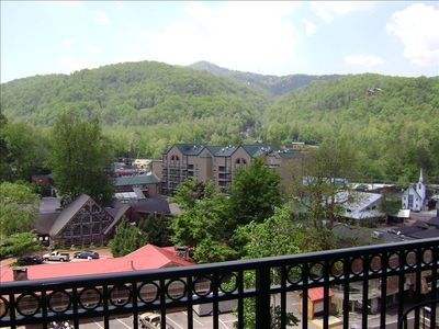 View from your private balcony overlooking Brewery restraunt & Cherokee Grill