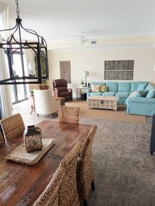 Photo for Low Rates! Luxury Beach Front Condo!  Lazy River, Pools, Fitness Center, Hot Tub