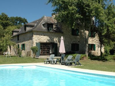 Photo for Beautiful farmouse with heated pool and breathtaking views of the open valleys