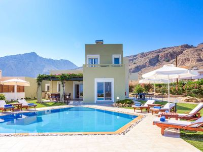 Photo for Villa Melodia - stylish villa with stunning sea views, private pool, Wi-Fi & AC