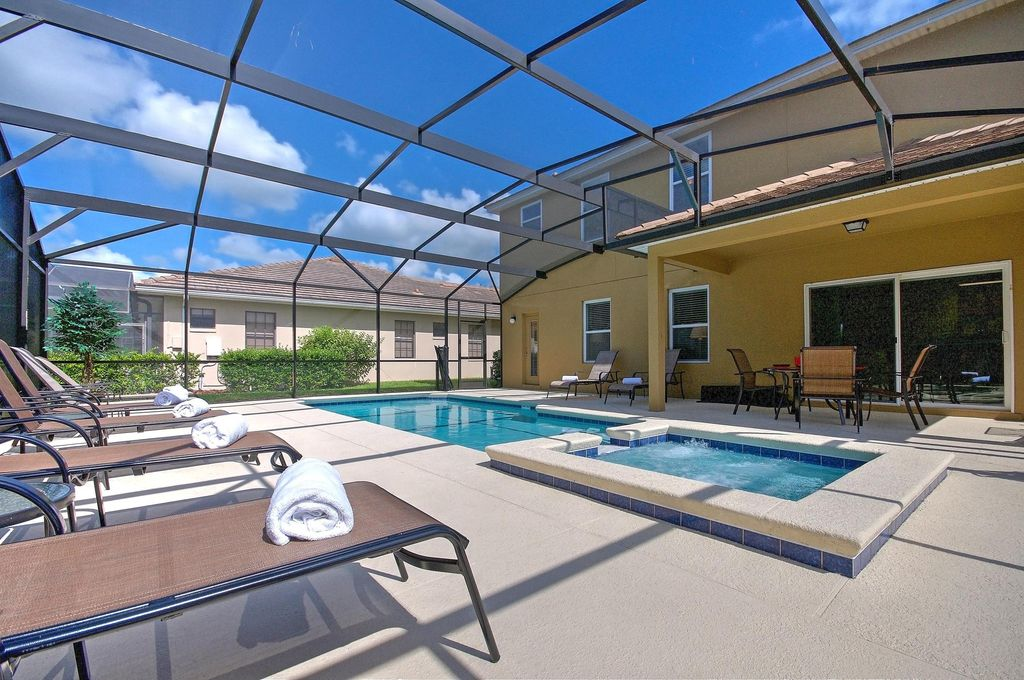 South Facing Pool/Spa, 8 Mins To Disney, 5 Beds Luxury/Spacious ...