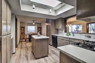The full kitchen offers the perfect space to relax at home.