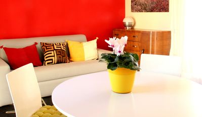 Photo for Bright apartment in the city center, terrace, private parking,Wi-Fi