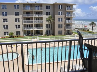 Photo for Updated condo! Ocean view! No drive Beach in NSB