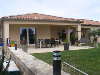 Photo for Single storey house with private pool in Ardèche provençale