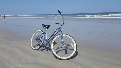Great Beach for Riding Bikes