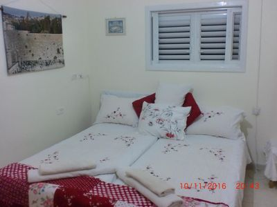 Master Bedroom with two large single beds