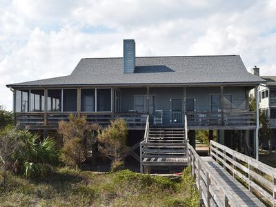 Photo for Quaint Oceanfront Beach Cottage on Pawleys Island with Covered Screened Porches and Phenomenal Ocean Views!
