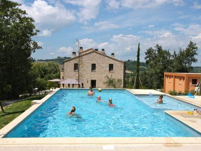 Photo for Modern mansion / countryhouse with pool, grand terrace & views - mountains & sea
