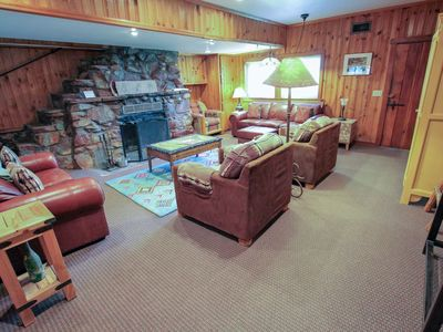 Photo for Charming, dog-friendly cabin w/ a private pool & hot tub - near hiking trails!