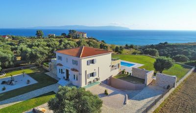 Photo for Stunning Luxury Villa with Panoramic Views of the Ionian Sea & Mountains