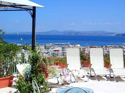 Photo for Villa Peonia A: A welcoming apartment which faces the sun and the sea, with Free WI-FI.