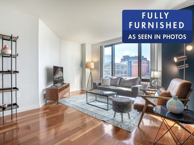Photo for Airy North Station 1BR w/ Gym + Roofdeck, near TD Garden by Blueground