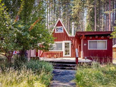 Photo for NEW LISTING! Peaceful, dog-friendly, mountain cabin - near golf, hiking trails