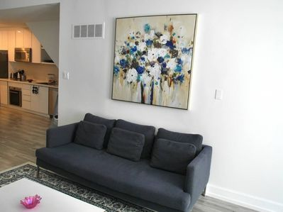 Comfortable couch in the living room
