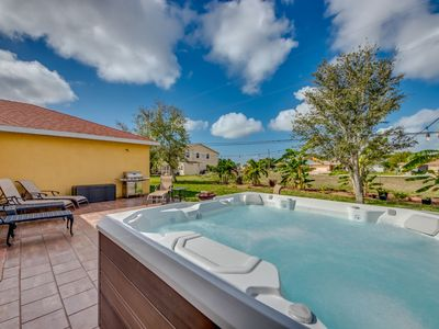 Photo for Soak your Troubles Away,Hot Tub Home with Pool Table - Villa Spa Bubbles - Cape Coral