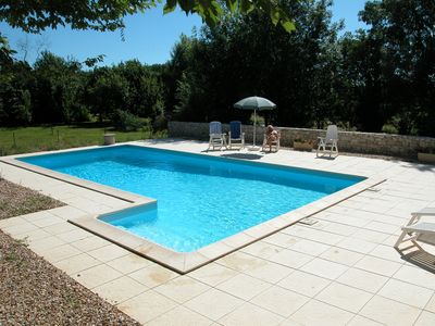 Photo for Restored Farmhouse, Pool, UK TV, Bikes, near St Foy La Grande/Dordogne river