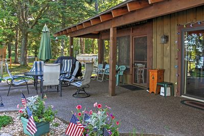Look forward to sipping your morning coffee and enjoying your meals on the outside patio area.