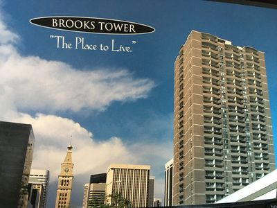 Brooks Tower is one of the first luxury high-rise buildings in Denver CBD