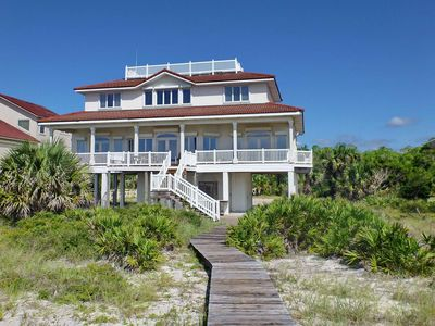 "Photo for Ready After Hurricane Michael! FREE BEACH GEAR! Beachfront, Plantation, Private Boardwalk, Elevator, 5BR/4BA ""Dolphin's Watch"""